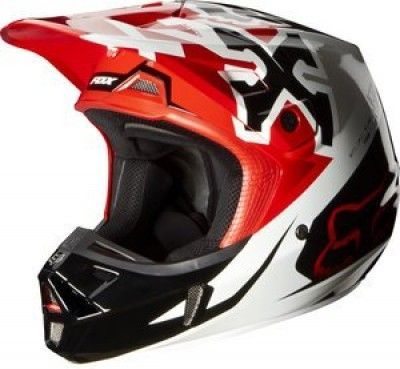 Capacete Fox Racing V2 Anthem Helmet Red #Capacete #Fox
