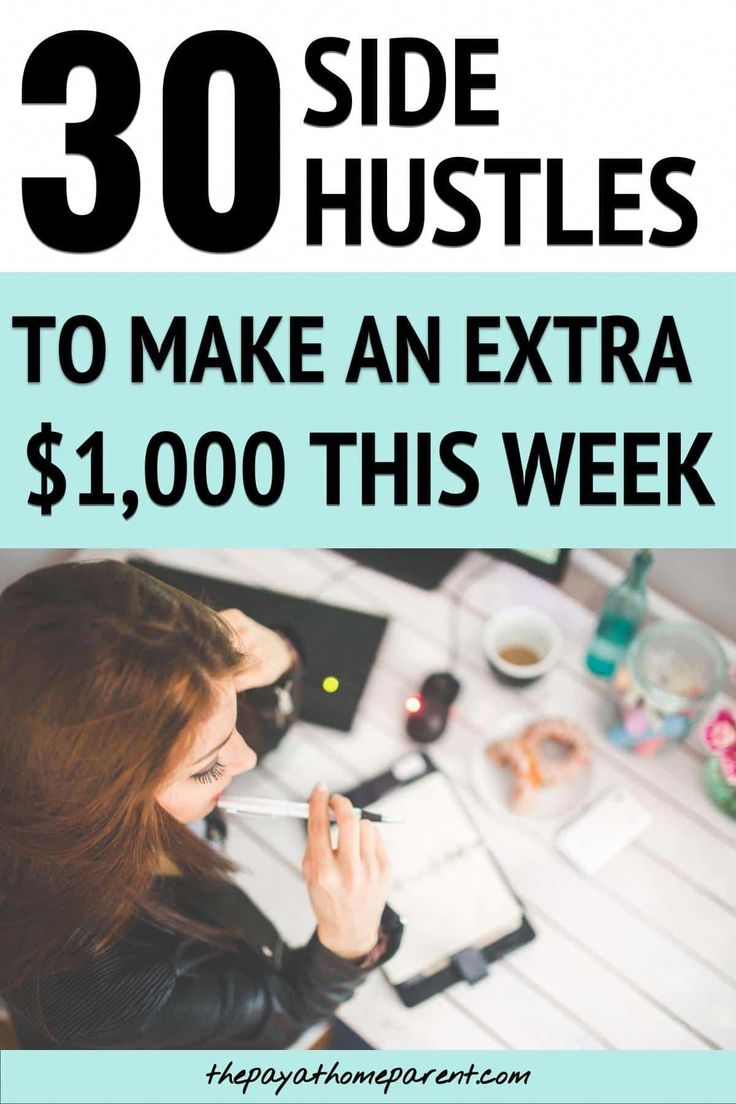 30 Side Hustles That Will Make You Money on the Side – work at home jobs