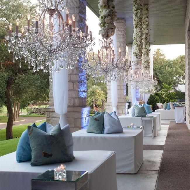 Elegant Outdoor Lounge Area