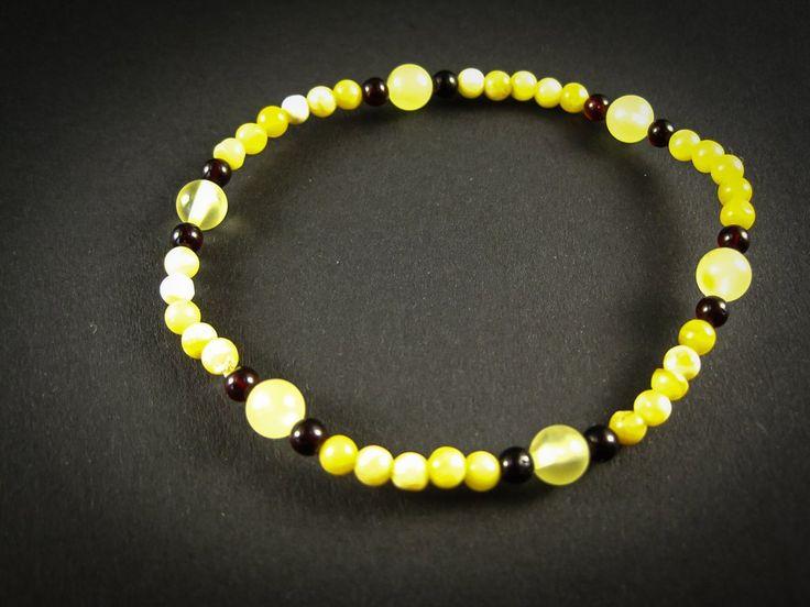 Genuine Handmade Amber Bracelet, Milky, Cognac, Small Size, Small Round Beads, Healing properties, For Her, Nursing Mums