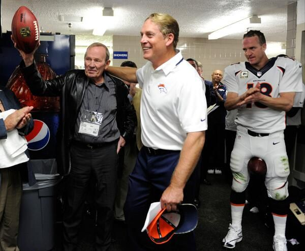 Owner & CEO Pat Bowlen gets the game ball after his 300th win