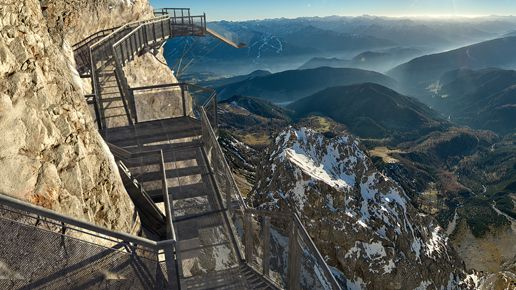 WOW!!!!  Dachstein – a suspension bridge that lets you walk off a cliff – Styria - Austria