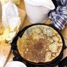 Grundrecept på söta pannkakor (crêpes)