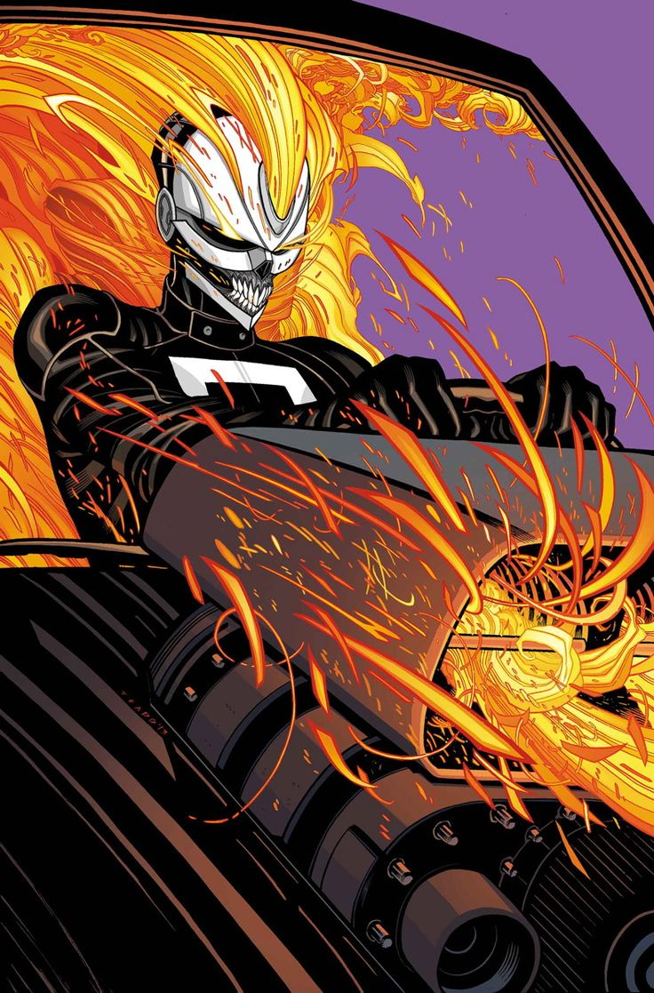 """ALL-NEW GHOST RIDER #2 FELIPE SMITH (W) • TRADD MOORE (A/C) Variant by FELIPE SMITH Vehicle Variant by Pop MHAN """"ENGINES OF VENGEANCE"""" PART 2 - See more at: http://www.newsarama.com/20046-marvel-comics-april-2014-solicitations.html#sthash.GU4uQrG7.dpuf"""