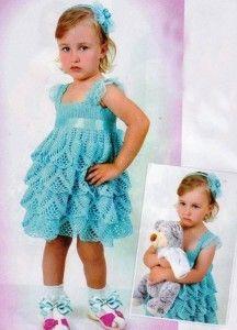 вязаное платье для девочки крючком / Crochet dress for a girl