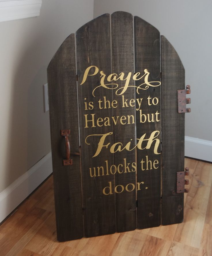 A personal favorite from my Etsy shop https://www.etsy.com/listing/460986846/religious-signs-prayer-is-the-key-prayer