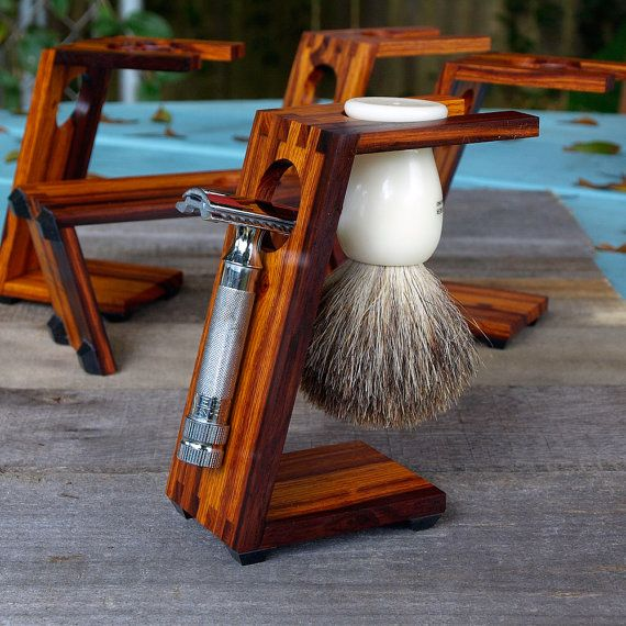 Wood Shaving Stand for XL Safety Razors Burmese by MHANDworks