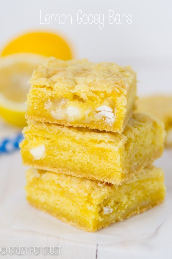 My favorite gooey bar yet: Lemon Gooey Bars! These are so good you're going to eat all of them.