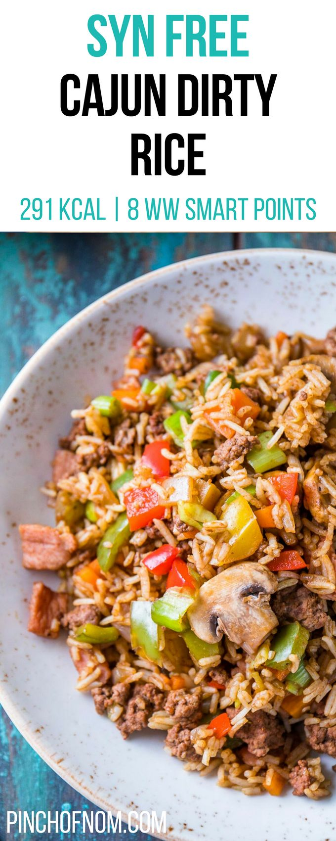 Syn Free Cajun Dirty Rice | Pinch Of Nom Slimming World Recipes    291 kcal | Syn Free | 8 Weight Watchers Smart Points