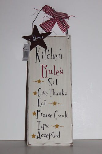 MOMu0027S KITCHEN RULEu0027S RUSTIC COUNTRY KITCHEN WALL SIGN ~