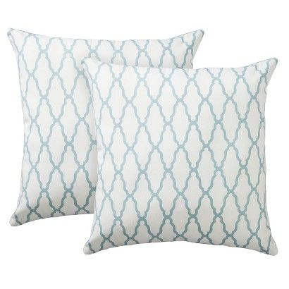 Threshold 2-Pack Trellis Toss Pillows - Blue For the Home Pinterest Yellow, Blue and Pillows
