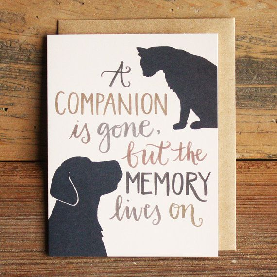 sympathy card for pet loss
