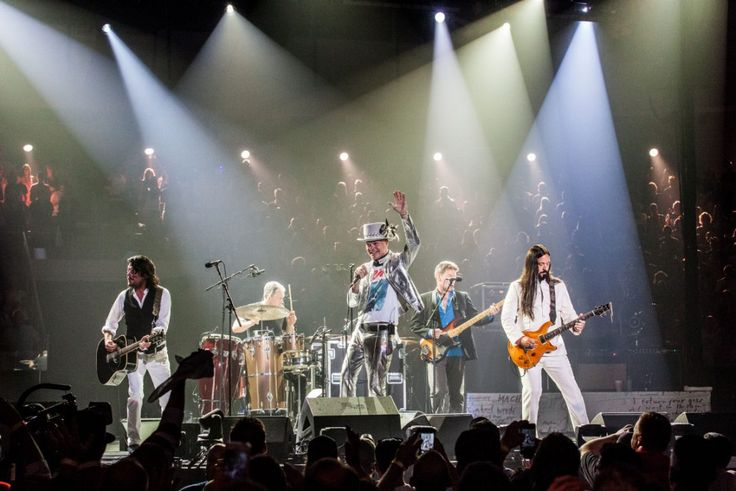 Paul Langlois, Johnny Fay, Gord Downie, Gord Sinclair and Rob Baker play the…