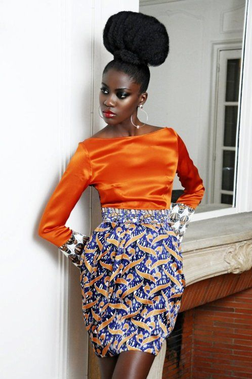 Who said you can't be fly as a natural!?African Fashion, Colors Combos, Burnt Orange, Beautiful, Nature Hair Style, African Prints, Longer Hair, Fashion Looks, Eki Orleans