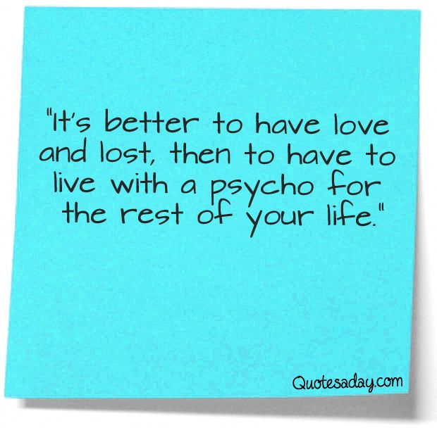 It's Better To Have Love And Lost…