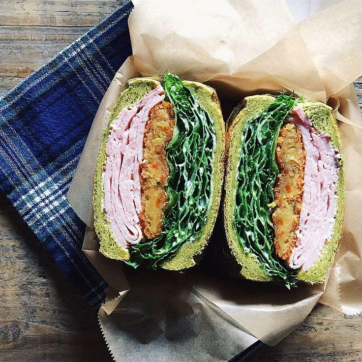 ✎ 🍱🍱🍱🍱 ✎ サンドイッチ うなぎ ヒレカツとじ丼(ネギだく) オムライス ✎ 今週もお疲れ様でした〜〜٩( ᐛ )و 今日は接待ごはん(焼き肉❤︎)。 #tami弁