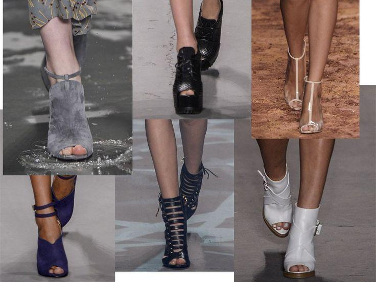 Os peep toes da temporada: sapatos com abertura na frente são o hit do Fashion Rio inverno 2014