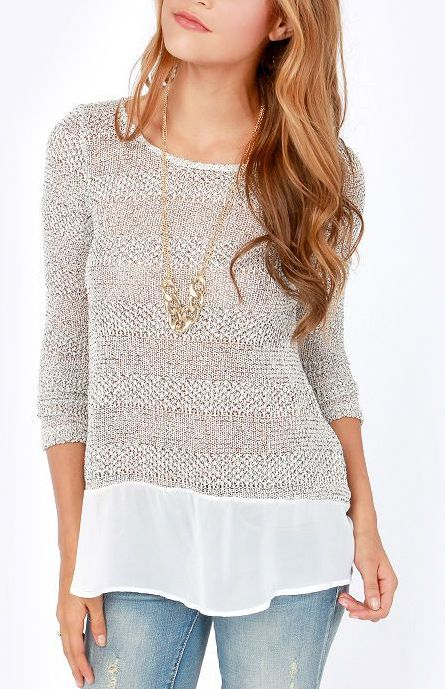 Love that the sweater looks layered and that it would hide my belly!