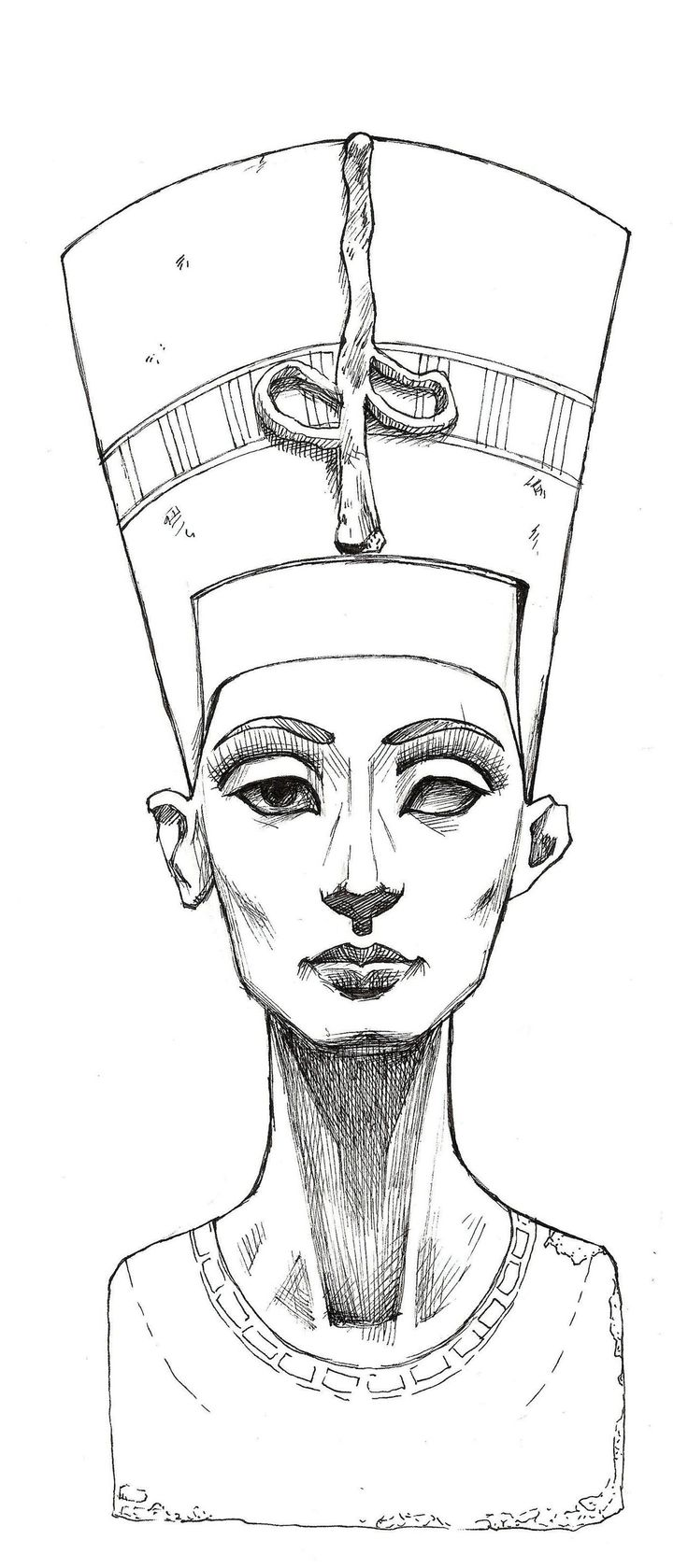 Nefertiti Sketch | Nefertiti Lines by ~MyBonsaiPatroclo on ...