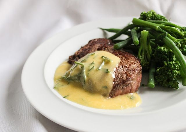 eat like you love yourself: Steak with Bearnaise Sauce