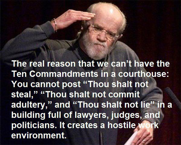 george carlin on the ten commandments funny political