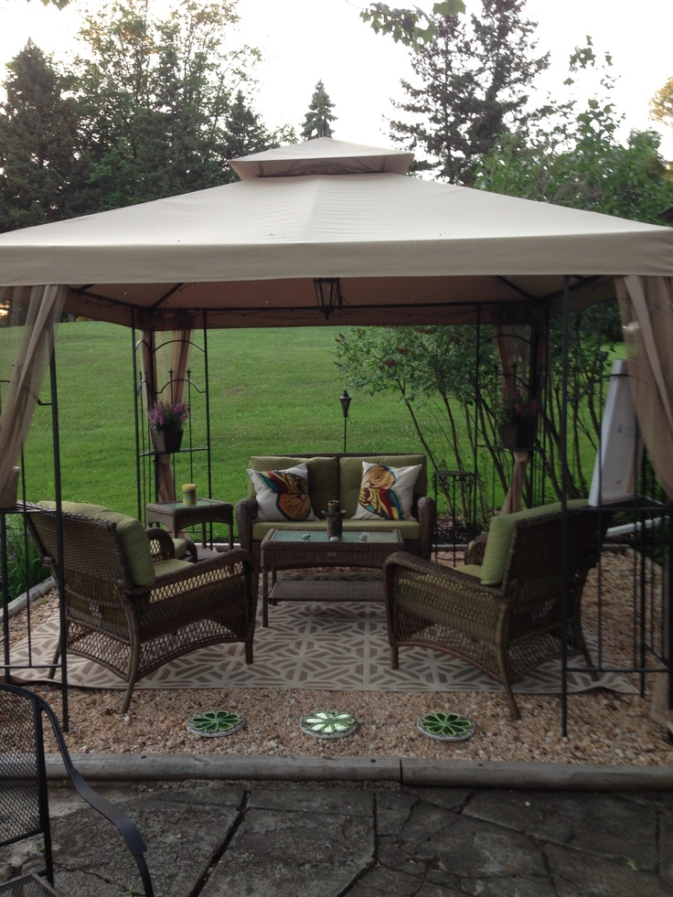 Idea for gazebo, on sale for just over $1000 at Lowe's in July.