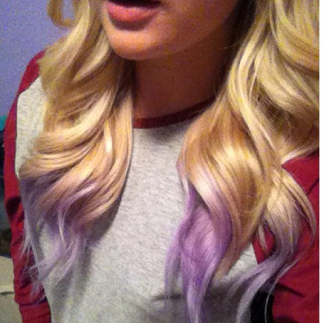 Lilac purple dip dyed hair