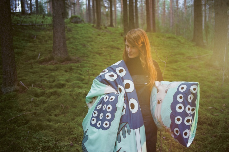 Off to the Woods: Marimekko´s Autumn 2012. Kaunis Kauris (Capricorn) Bedlinen, Design: Teresa Moorhouse for Marimekko