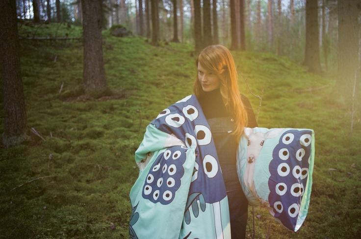 Off to the Woods: Marimekko´s Autumn 2012. Kaunis Kauris (Capricorn) Bedlinen, Design: Teresa Moorhouse for Marimekko