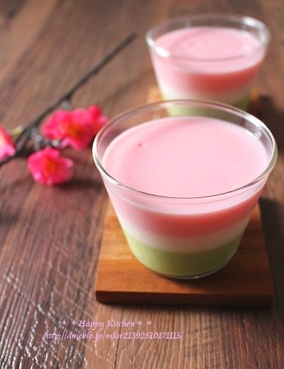 • tri-color pudding • ひな祭りに3色ミルクプリン*10分で3層出来る裏ワザ | たっきーママ オフィシャルブログ「たっきーママ@happy kitchen」Powered by Ameba