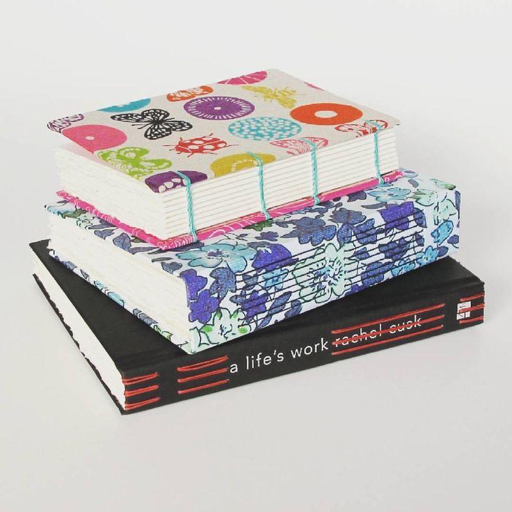 Journal stack  #freshoffthepress #handmade #journals #journalstash #repurposedbooks
