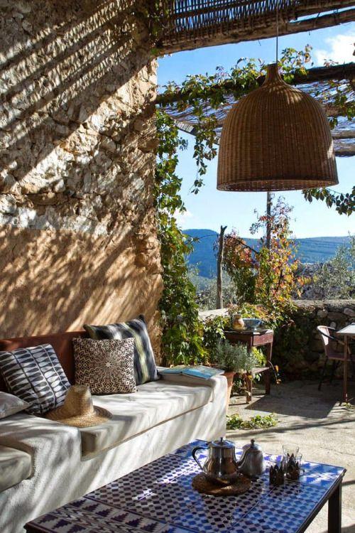 shady mediterranean patio