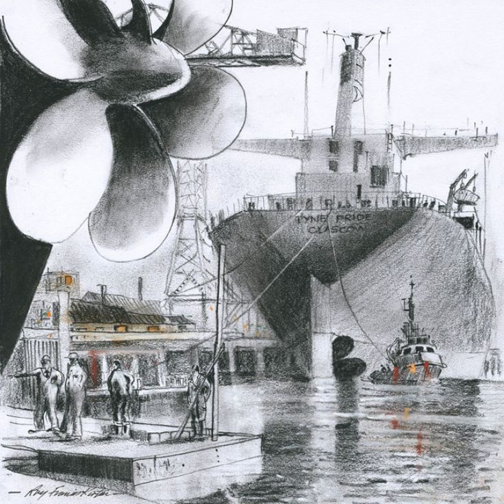 Inspection Time signed limited edition print by Roy Francis Kirton