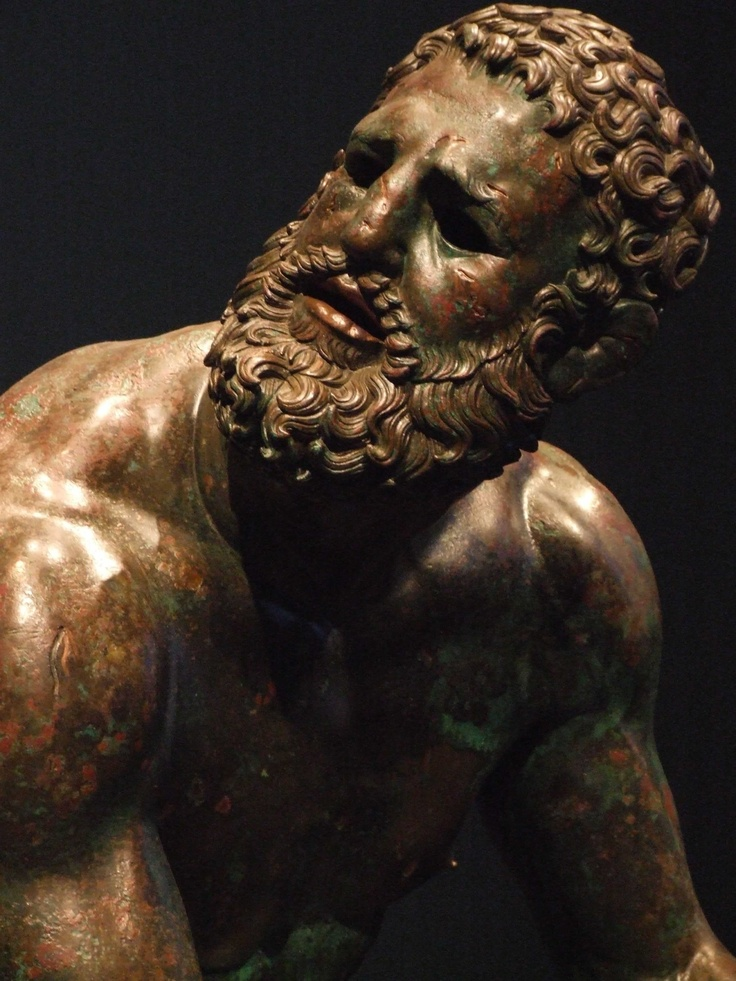 'The Boxer' statue at the Archaeology Museum in Napoli