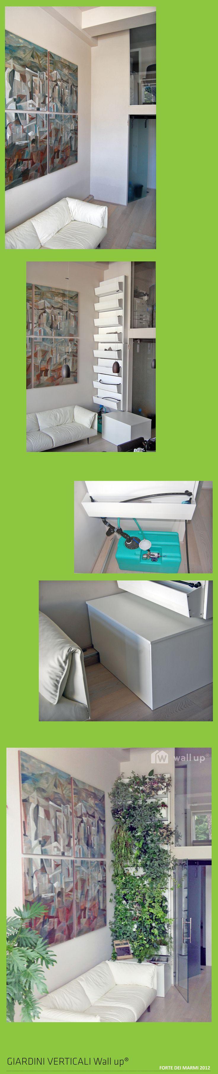 GIARDINO Wall up. Col verde verticale l'ufficio diventa meno grigio. http://www.wallup.it/giardino.html