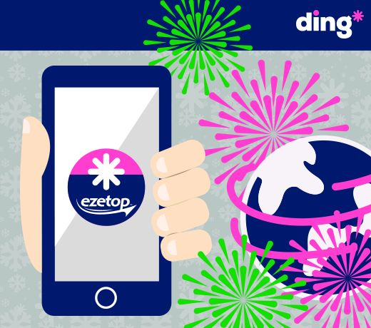 Who will you be wishing a happy New Year to? We want to make it easier! Use our ding* app to send a top-up in just 3 easy steps! Don't have the app yet? Download it here: http://m.onel.ink/8033a3a1