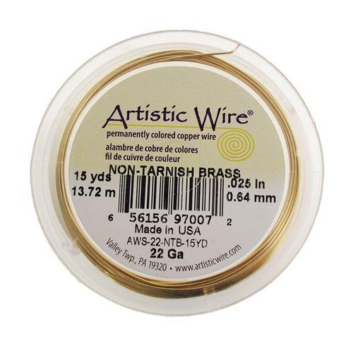 AAW1828 Alambre Artistic wire alta calidad (made in USA), ideal para bisutería fina color dorado, medida 20 Rollo con 15 yardas,  precio por pieza $146 pesos, precio medio mayoreo (3 piezas)$144 pesos, precio mayoreo (6 piezas)$142 pesos, precio VIP (12 piezas)$140 pesos