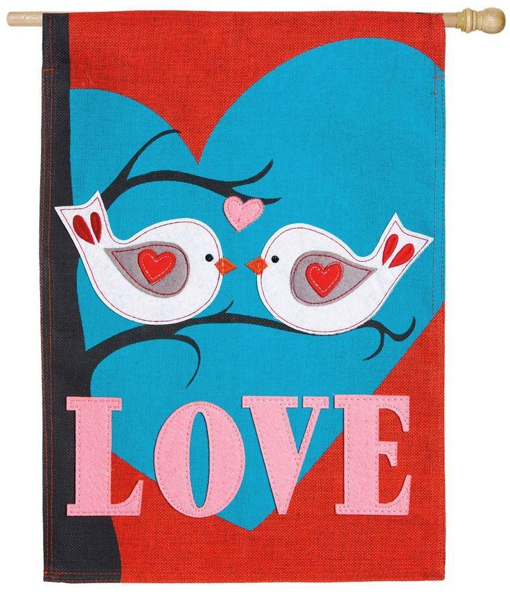 IAmEricas Flags - Burlap Love Birds Decorative House Flag, $30.00 (https://www.iamericasflags.com/burlap-love-birds-decorative-house-flag/)