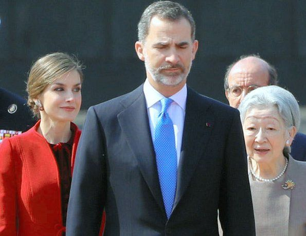 The Imperial Family Welcome King Felipe and Queen Letizia