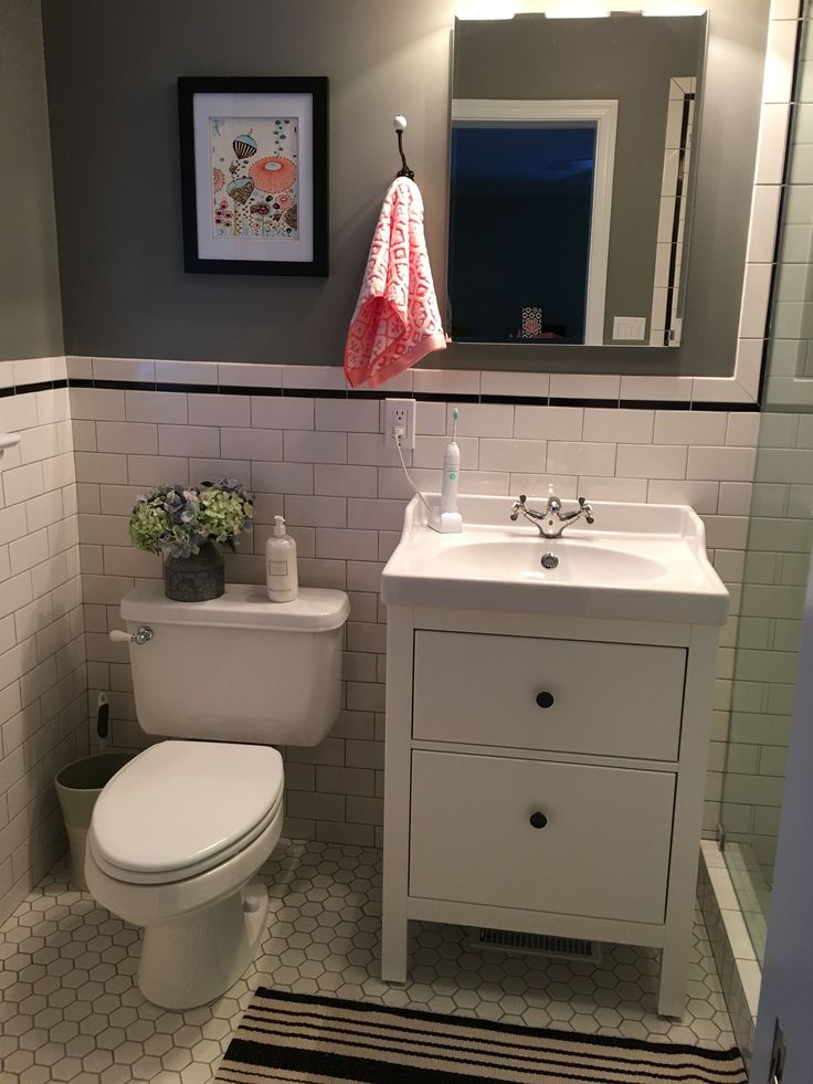 The 25 best small basement bathroom ideas on pinterest for Small bathroom vanity with storage