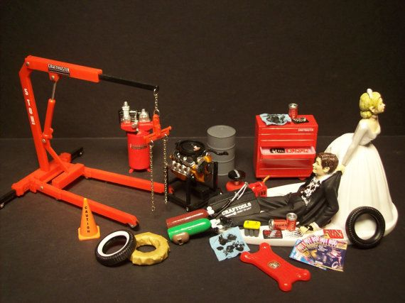 AUTO MECHANIC Tool Set w/ CHEVY 454 v8 Engine & Stand by mikeg1968