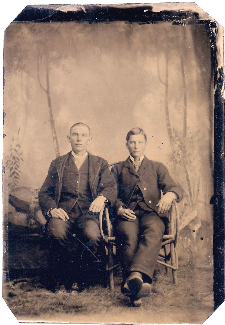 Joe Antrim (left) was the brother of legendary American Old West outlaw and gunfighter William Bonney also known as Billy the Kid. Tom Pickett (right) was an American Old West outlaw who rode with Billy the Kid. - Courtesy Jay McCarey Collection
