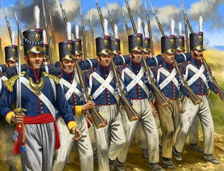 Португальская пехота в бою