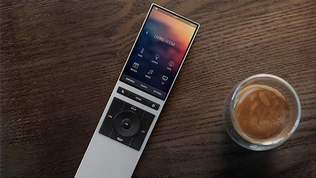 The futuristic looking, aluminium and glass clad remote wouldn't look out of place on the Enterprise and has the design chops to make even Apple stand up and take note. Along with the remote, is the 'Brain' which connects to your home network and learns everything you've got hooked up, from your TV, to your Sonos and even your Hue bulbs and Nest Thermostat, you can then control everything with one device. (scheduled via…