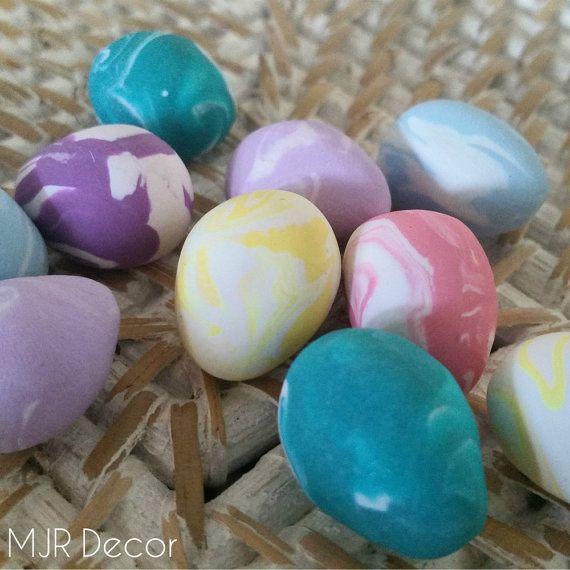 Mini Easter Clay Eggs by MJRDecor on Etsy