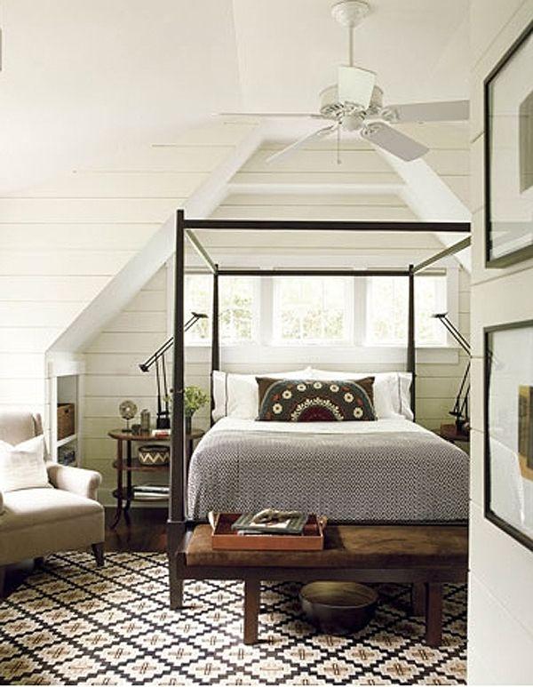 chic attic master bedroom