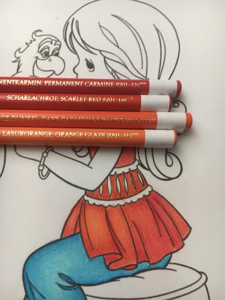 Colorist Carolyn Speir Polychromos Buntstiftzeichnungen Buntstifte