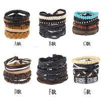 DIY Unisex New Beads Love Friendship Infinity Leather Charm Bracelet Jewelry Hot