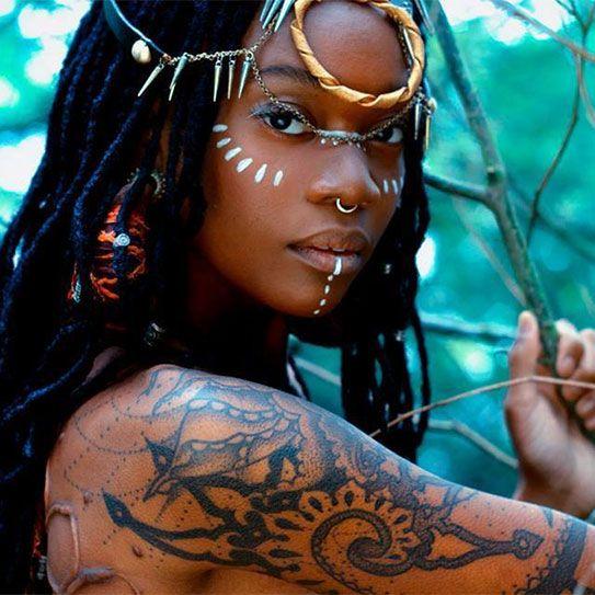 Reine de Saba comme toutes les guerrières d'Ethiopie