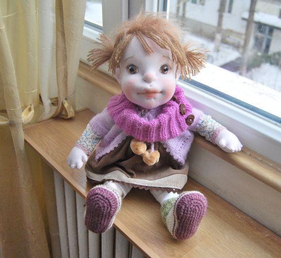 Waldorf Doll Waldorf Inspired Doll Soft Doll by MaryUniqueDoll
